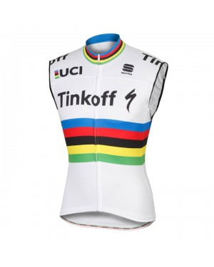 Maillot sin Mangas 2016 Tinkoff Race Equipo Campeón mundial (Chaleco verano)