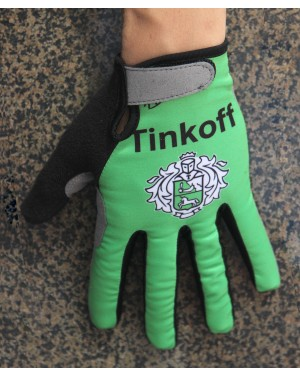 Guantes Ciclismo 2016 Tinkoff Race Verde Invierno